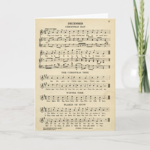 Unusual Vintage Christmas Music Sheet Songs