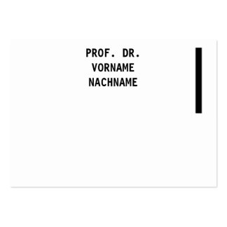 Unusually differently large business card