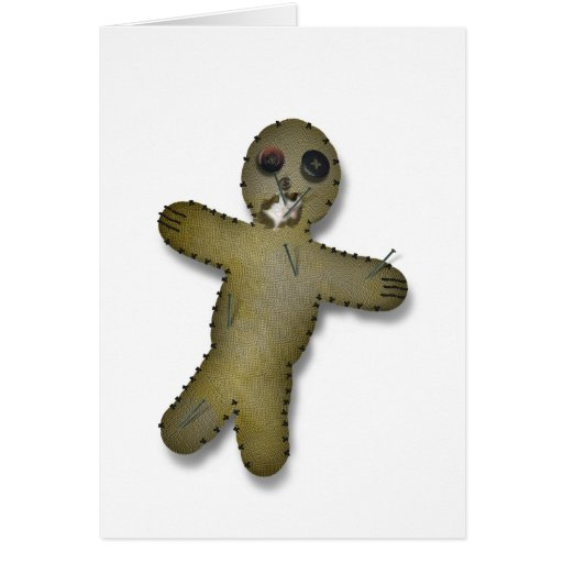 Unvalentine Voodoo Doll Card Greeting Cards