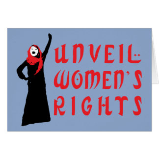 Unveil Muslim Women's Rights Greeting Card