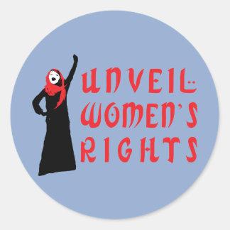Unveil Muslim Women's Rights Classic Round Sticker