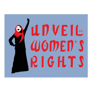 Unveil Muslim Women's Rights Post Cards