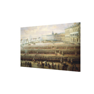 Unveiling of the Paul I memorial in Gatchina Canvas Print