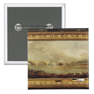 Unveiling of the Pont de Neuilly, 1772 Pinback Button
