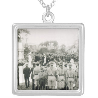 Unveiling of War Memorial Silver Plated Necklace