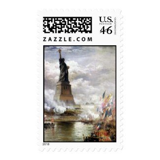Unveiling The Statue of Liberty 1886 stamp