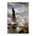 Unveiling the Statue of Liberty painting Print