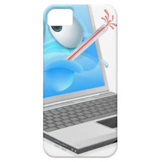 Unwell laptop computer virus cartoon case for the iPhone 5