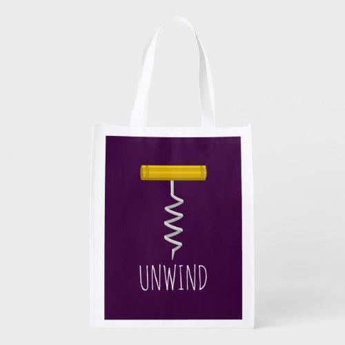 Unwind Corkscrew Grocery Bag