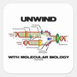 Unwind With Molecular Biology (DNA Replication) Square Sticker