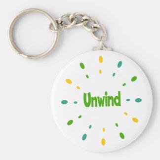 Unwind yellow, green, blue keychain