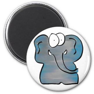 Unwoolly Mammoth 2 Inch Round Magnet