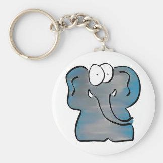 Unwoolly Mammoth Basic Round Button Keychain