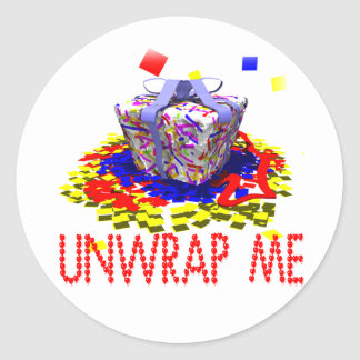 Unwrap Me Classic Round Sticker