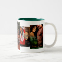 Unwrap Me, I'm Yours, Red Garters, Snow an... Two-Tone Coffee Mug