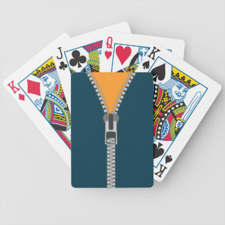 unzipped zipper bicycle playing cards