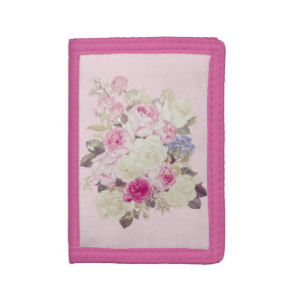 uoretsuto of elegant rose trifold wallet