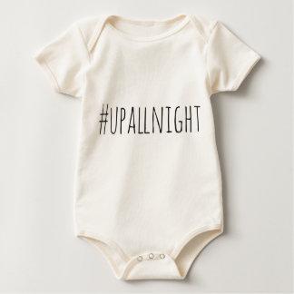 Up All Night Hashtag Baby Bodysuit
