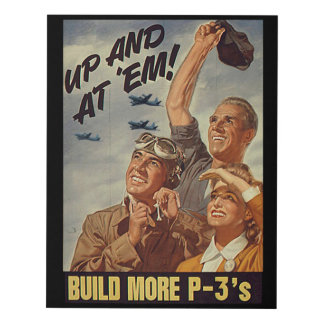 Up and AT Em! Buy more P-3's! Wall Decor