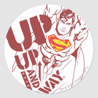 Up and Away Classic Round Sticker
