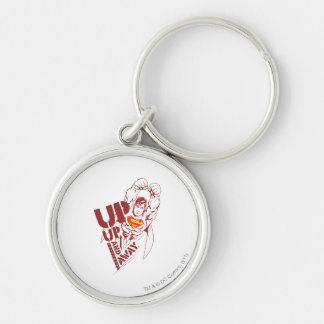 Up and Away Silver-Colored Round Keychain