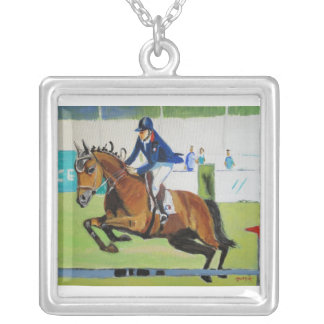 Up and Away Square Pendant Necklace