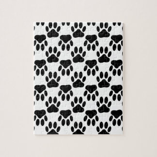 Up And Down Dog Paw Prints Jigsaw Puzzles