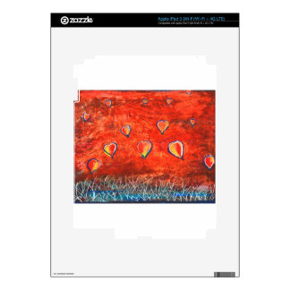 Up and Up vibrant colorful art Decal For iPad 3