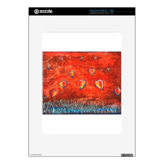 Up and Up vibrant colorful art Skin For iPad