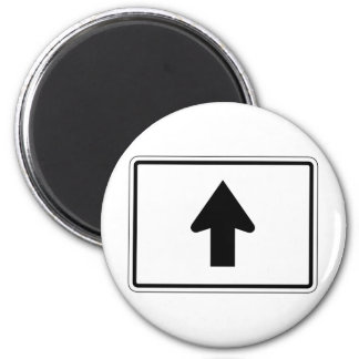 Up Arrow Street Sign 2 Inch Round Magnet