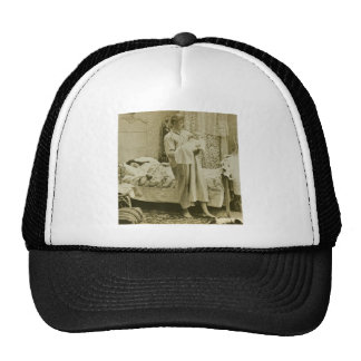 Up at 3 am - Vintage Stereoview Hats