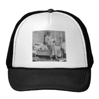 Up at 3 am - Vintage Stereoview Hat