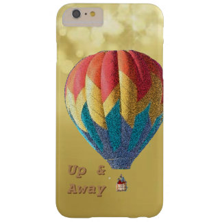 Up & away customize balloon with gold background barely there iPhone 6 plus case