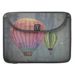 Up & Away/Hot Air Balloons Vintage Retro Art MacBook Pro Sleeve