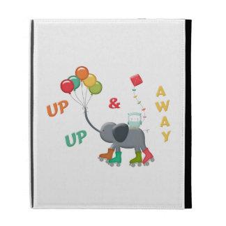 Up & Away Rollerskating Elephant Balloons iPad Folio Cases