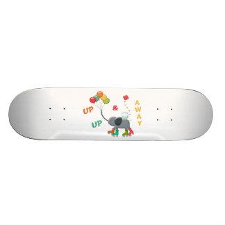 Up & Away Rollerskating Elephant Balloons Skateboard Deck