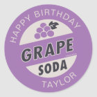 UP Birthday | Grape Soda Birthday Classic Round Sticker