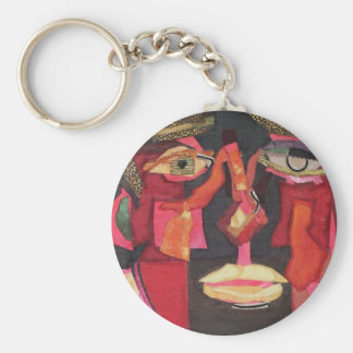 Up Close and Personal. portait of a man Basic Round Button Keychain