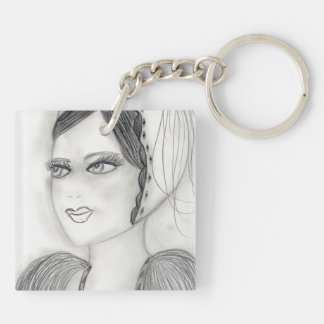 Up Close Flapper Keychain