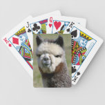Up Close Grey Alpaca Playing Cards