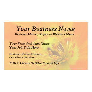 Up Close - Iceland Poppy Double-Sided Standard Business Cards (Pack Of 100)