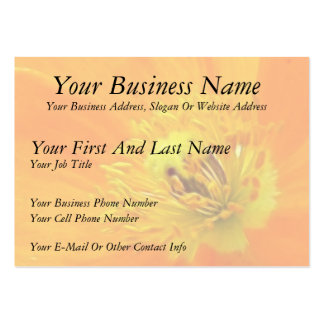 Up Close - Iceland Poppy Large Business Cards (Pack Of 100)
