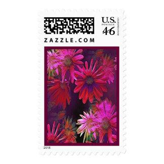 Up Close Purple Floral Verical Postage