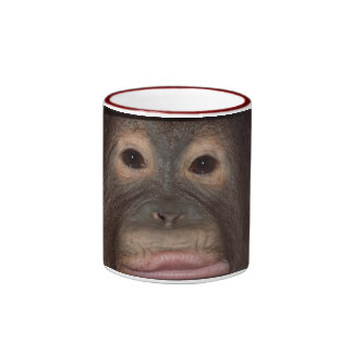 Up Close with Orangutans Ringer Coffee Mug