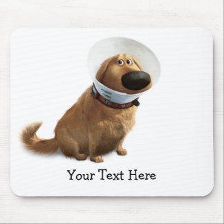 UP   Dug the Dog in Cone of Shame Mouse Pad