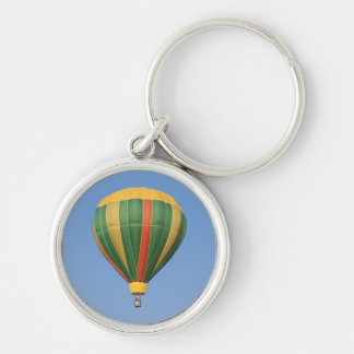 Up Early Hot Air Balloon Silver-Colored Round Keychain