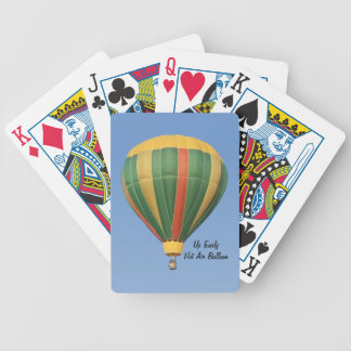 Up Early Hot Air Balloon Playing Cards