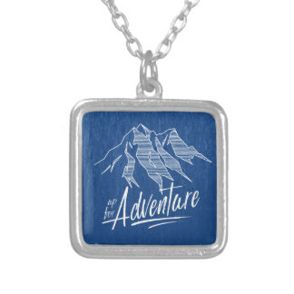 Up For Adventure Mountains ID358 Silver Plated Necklace