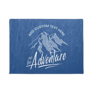 Up For Adventure Mountains White ID358 Doormat