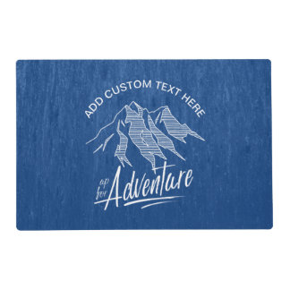Up For Adventure Mountains White ID358 Placemat